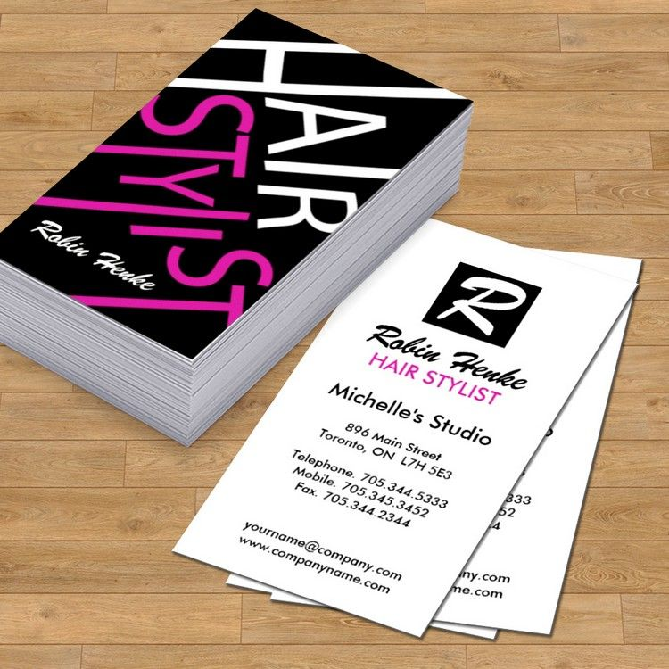 Fully customizable monogram hair salon business cards designed by ...