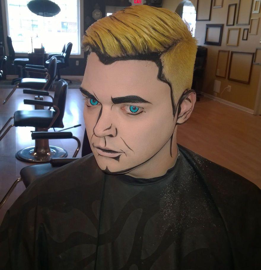 Pop Art Guy | Pop art, Halloween ideas and Comic makeup