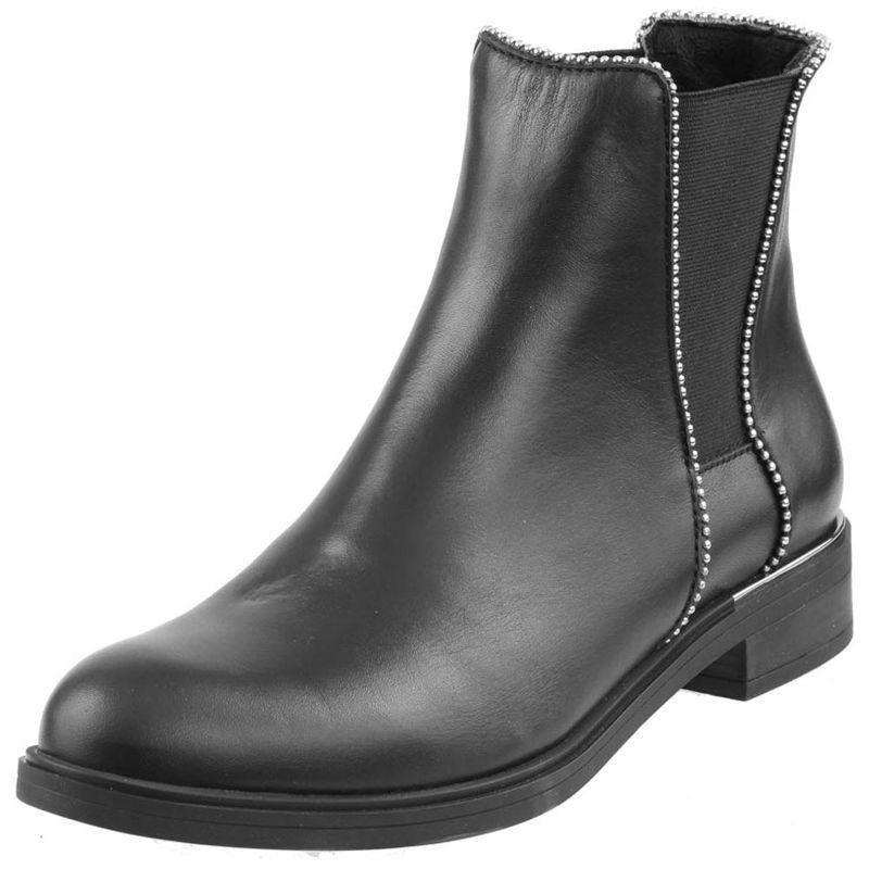 Botki Damskie Nessi 18399 Czarne 16 Buty Damskie Botki Nieocieplane Chelsea Boots Rain Boots Shoes