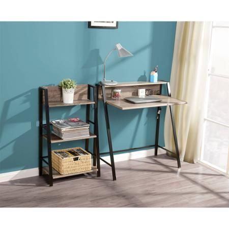 Mainstays 2 Tier Writing Desk Mocha Walmart Com Writing Desk Reclaimed Wood Desk Desks For Small Spaces