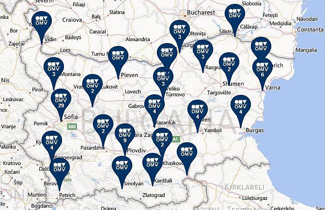 Harta Benzinarii Omv Bulgaria Pleven Medgidia Bulgaria