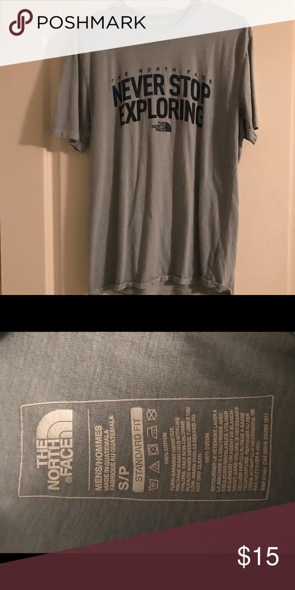 cb056f64c North face T-shirt Super soft material. Light greenish gray color ...