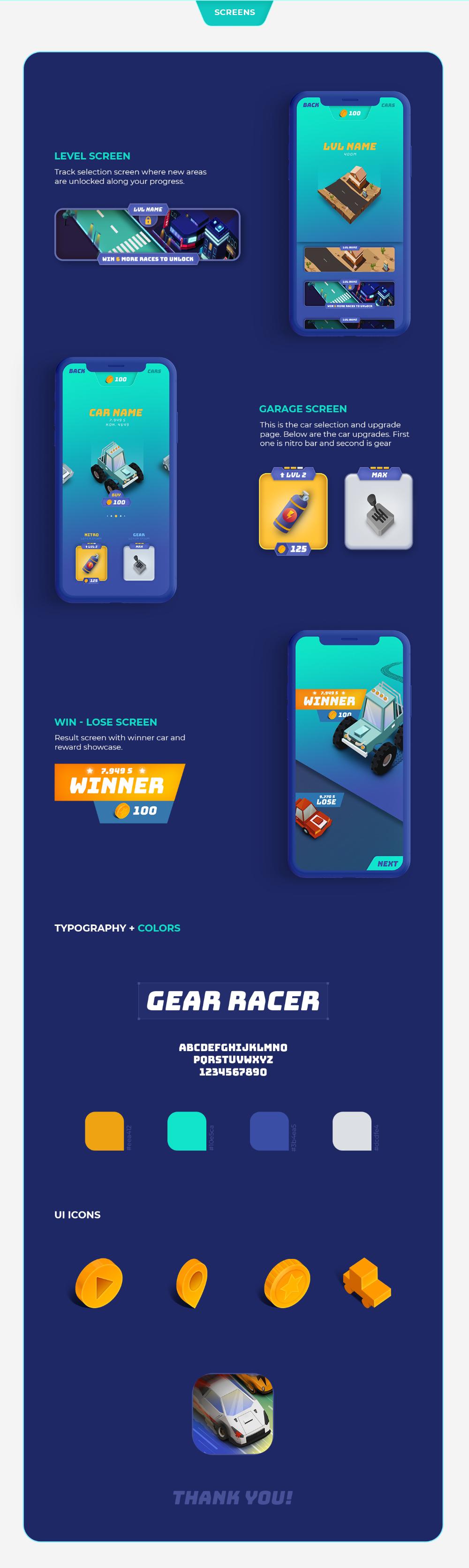 Behance Поиск Racer, Racing games, Gears