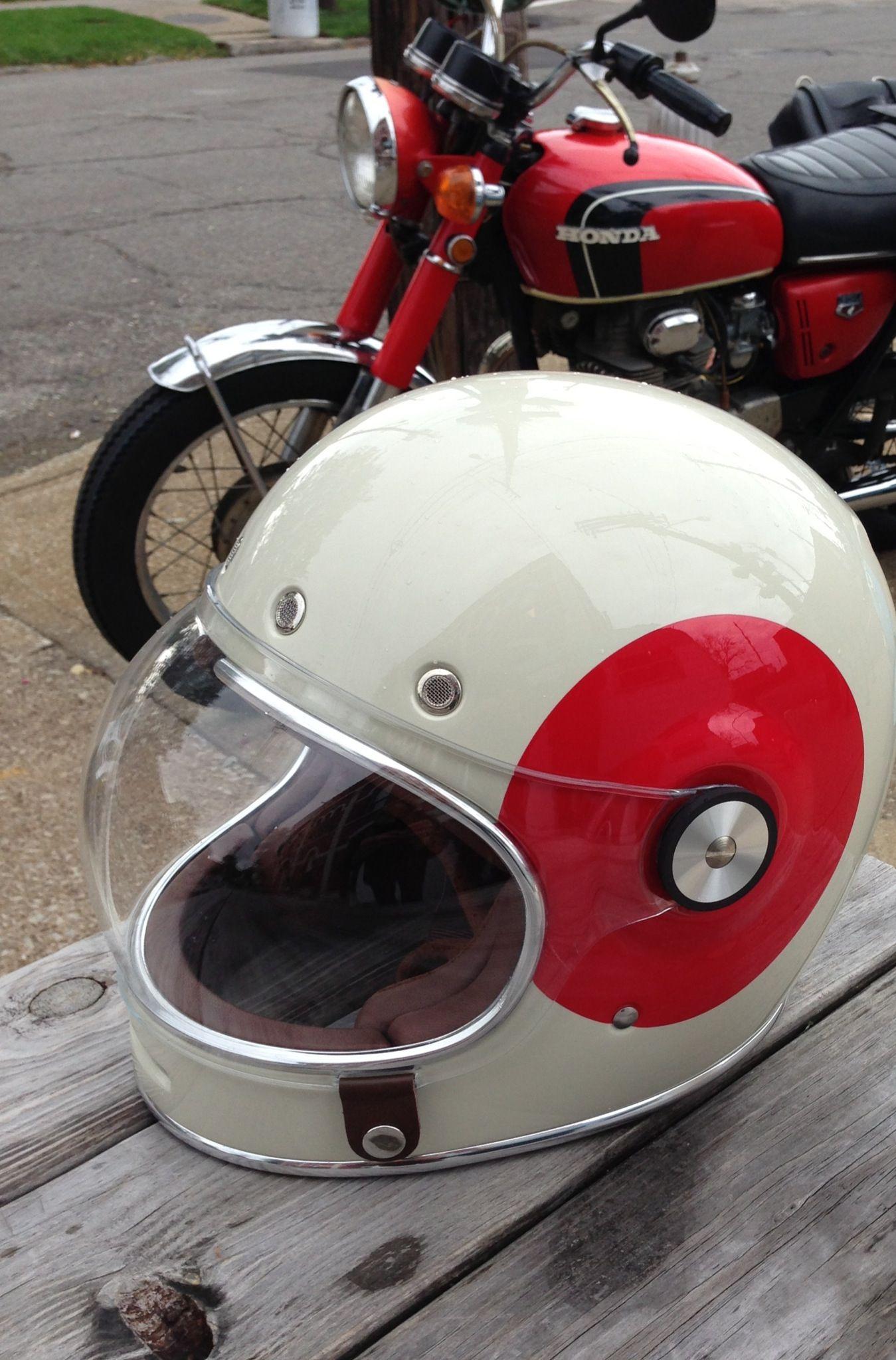 Helmet... #BellBullitt bike... 71 #Honda350