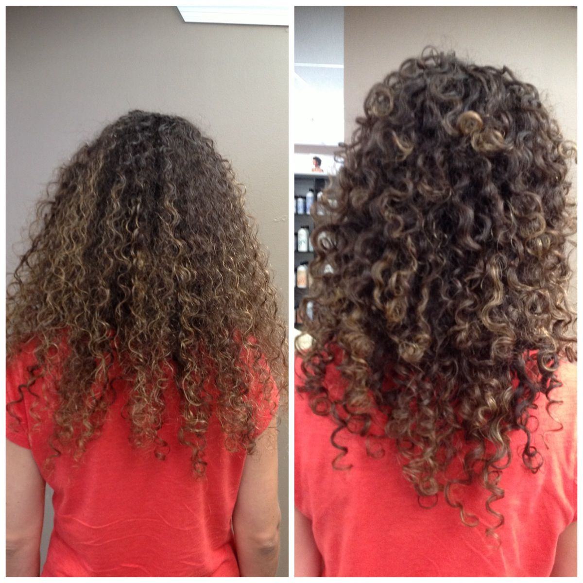 Before And After Ouidad Deep Treatment Hair Cut And Style Done By
