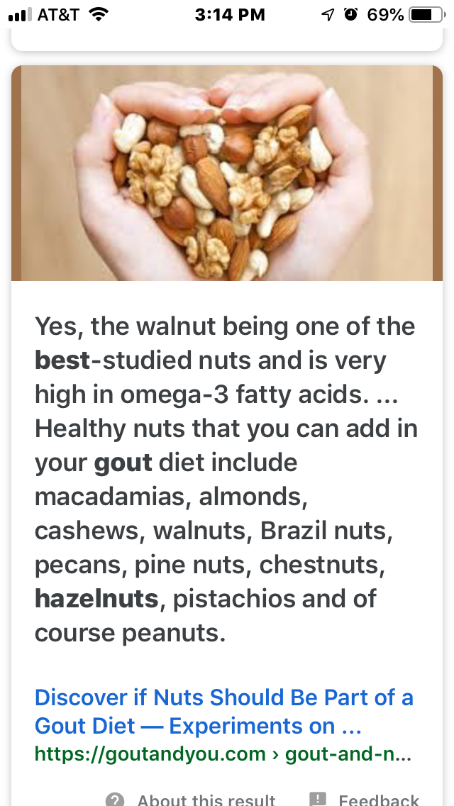 Pin By Rae Lynn Anthony On Gout Diet Foods And Drinks Healthy Nuts Gout Diet Food And Drink
