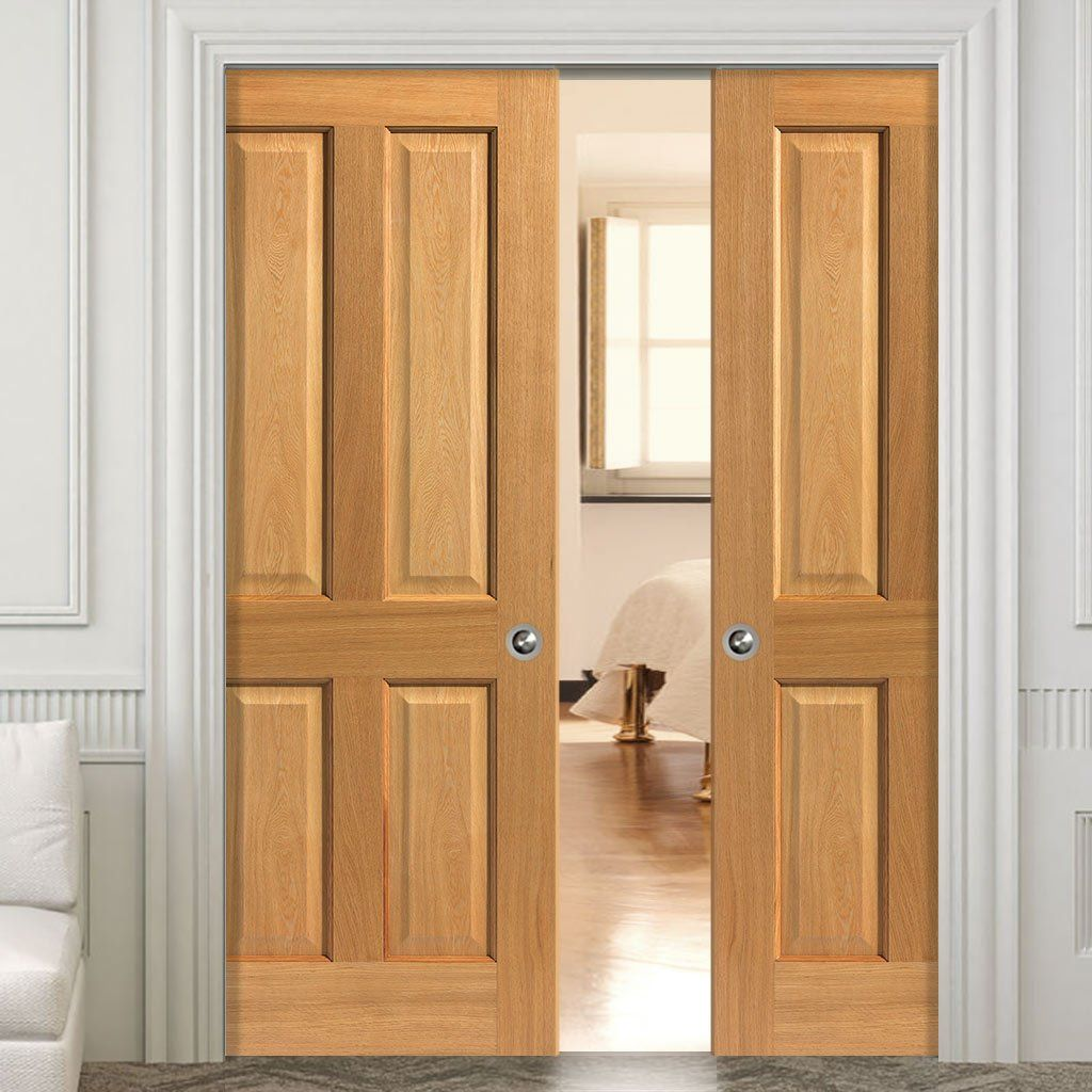Double Pocket Doors. Simply Oak Sherwood Double Pocket Doors
