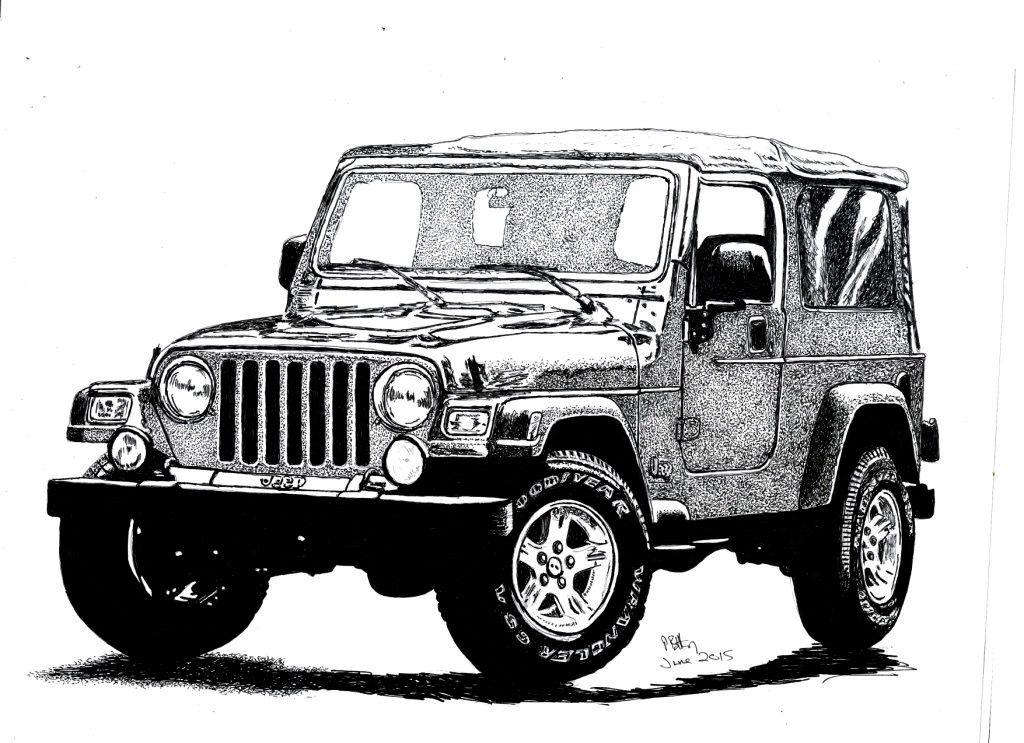 Pin De Christiane Nelis En Tatuagens Carro Dibujo Dibujos Jeep Wrangler