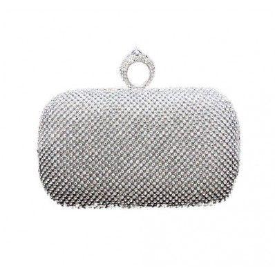 WOMEN/'S Designer Stile Cristallo Borsa da Sera Donna Clutch Bag
