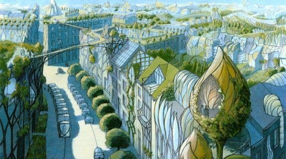 Luc Schuiten Www Thegreenrevolution It Solar Punk Pinterest Eco City Architecture Drawing Green Architecture