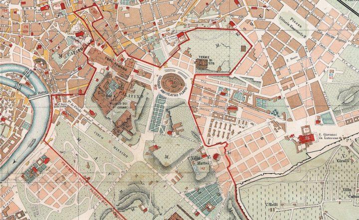Mappe Roma Ieri Oggi Part 3 nel 2020 Archeologia