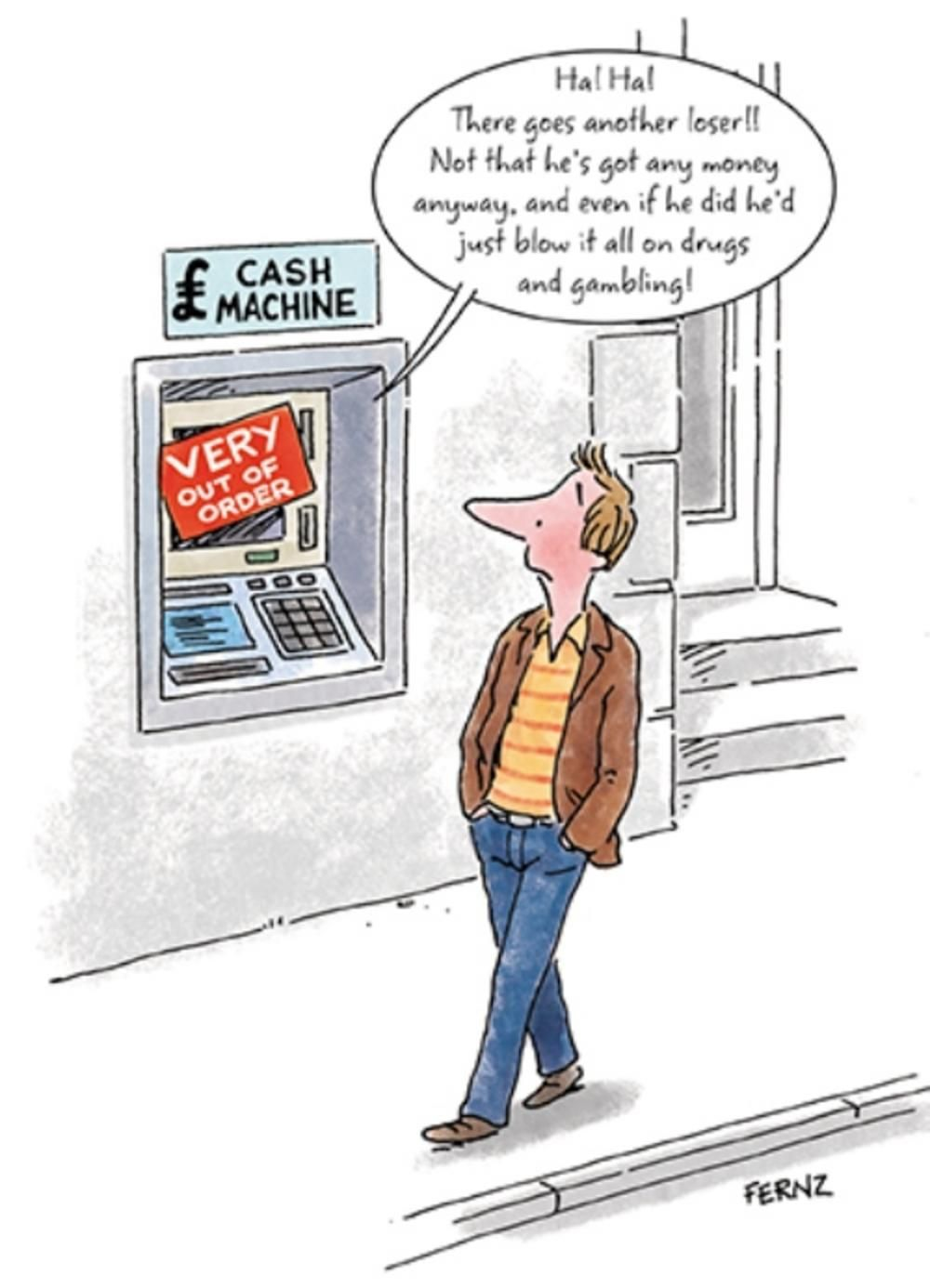 Cash Machine Out Of Order Funny Birthday Greeting Card