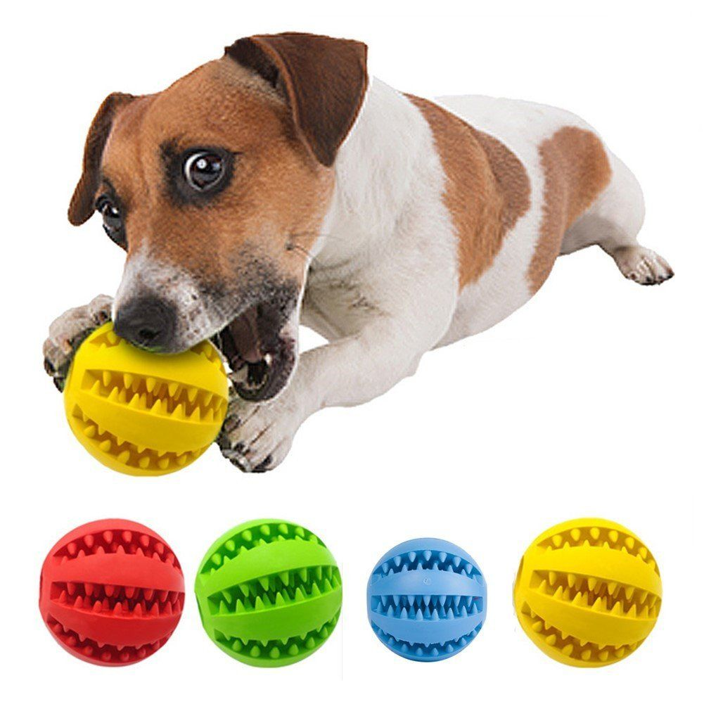 Hoojee Toy Ball For Dogs Dental Treat Bite Resistant Durable Non