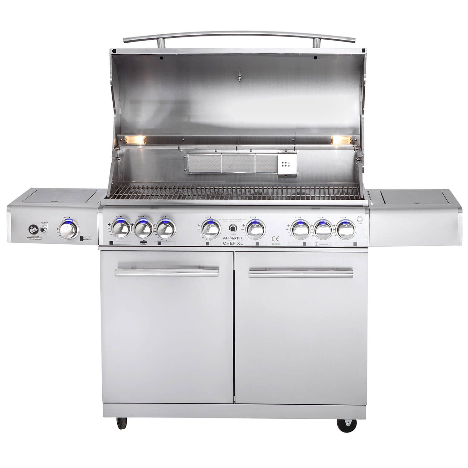 Top Line All Grill Chef Xl Mit Air System Volledelstahl Gas Grill Mit All Grill Air System Gesamtleistung 3 Edelstahl Grill Gasgrill Edelstahl Gasgrill