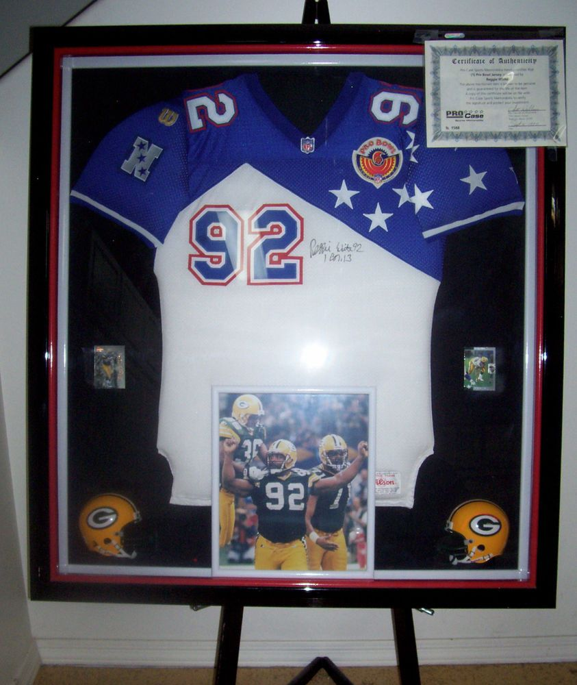 online retailer a22a5 a3505 REGGIE WHITE AUTOGRAPHED PRO BOWL JERSEY IN ProCase SPORTS ...