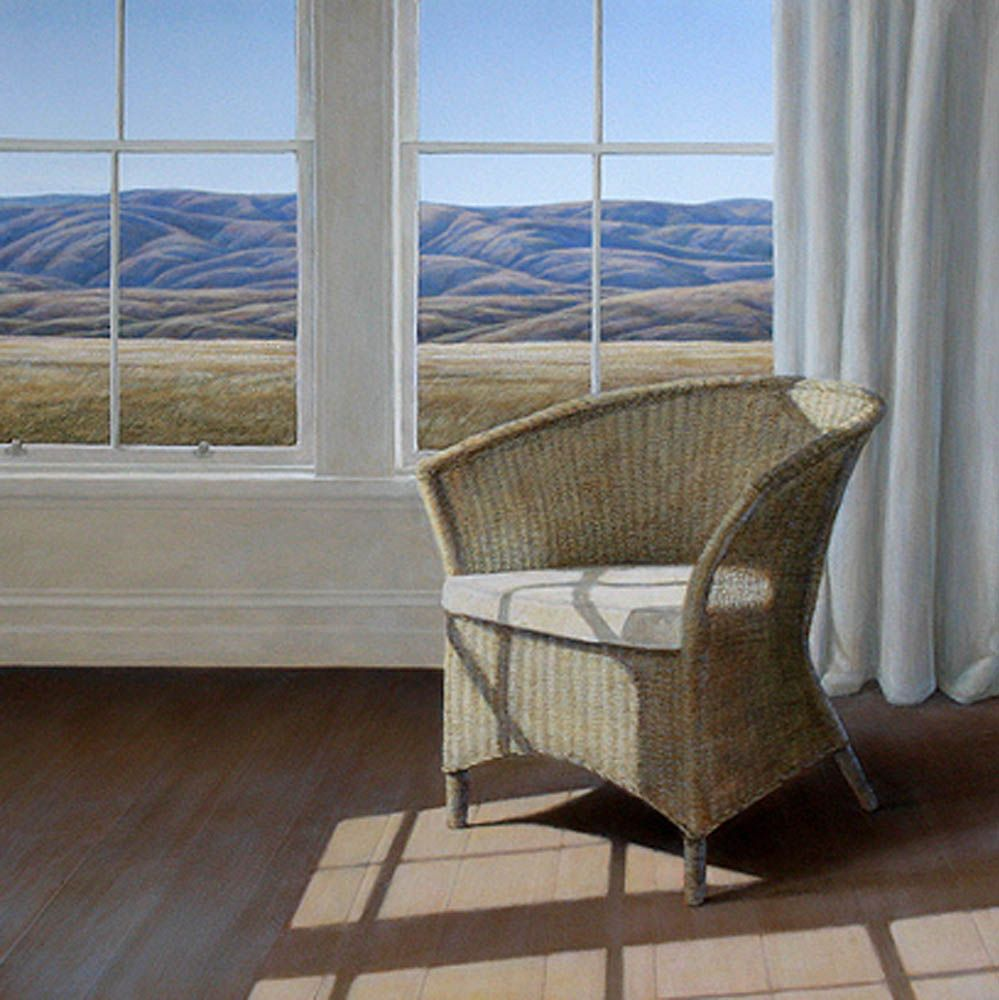 Parnell Gallery Landscape, New zealand art, Cane chair