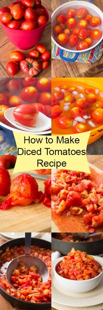 how to make diced tomatoes
