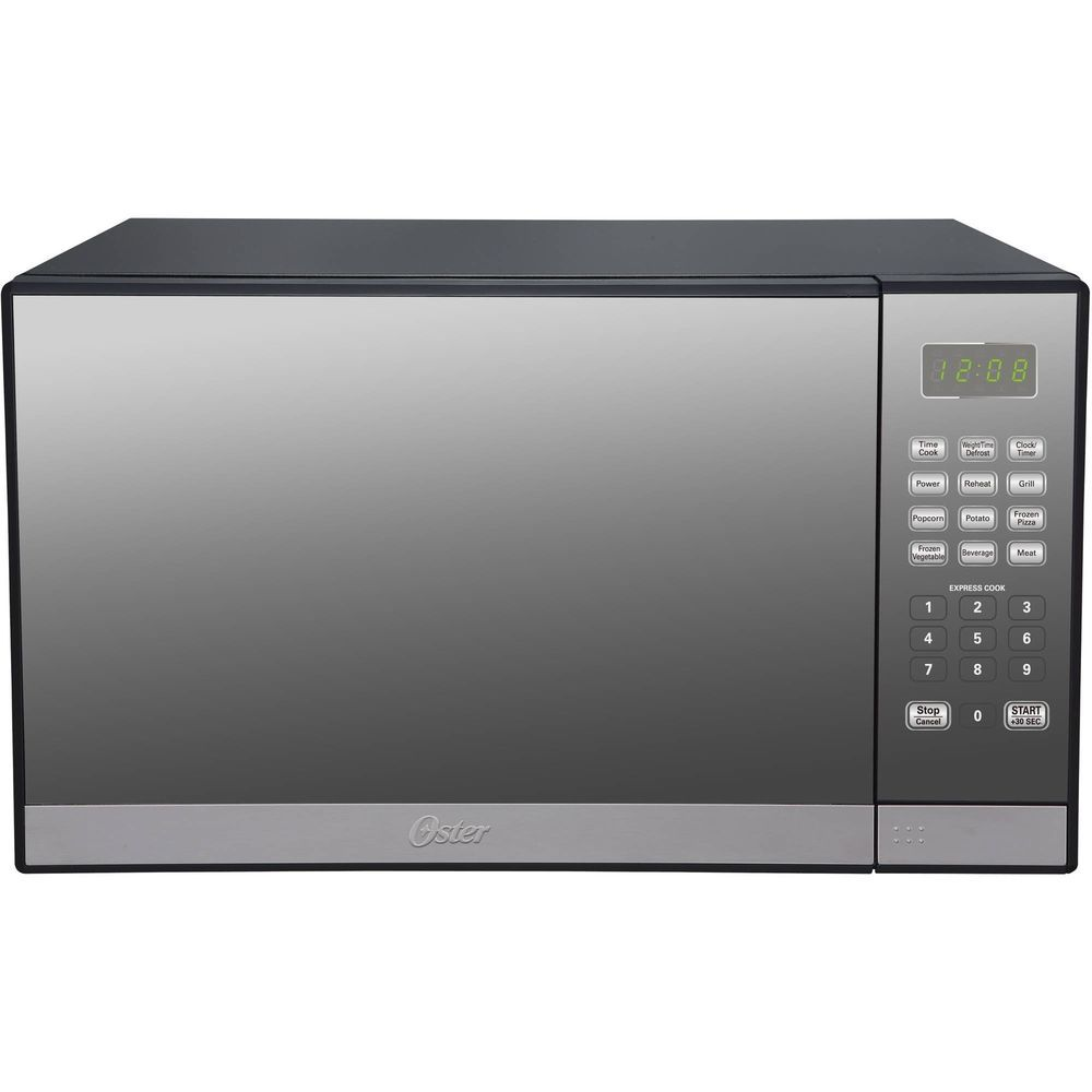Oster 1 3 Cu Ft 1000 Watt Kitchen Microwave Oven With Grill Oster Oster Microwave Countertop Microwave Stainless Steel Microwave