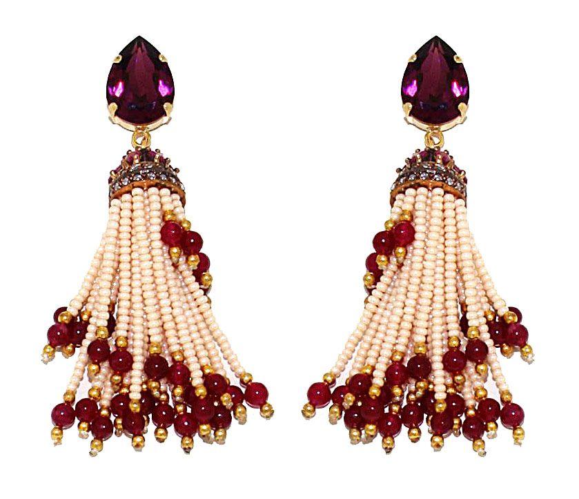 PEZZO UNICO - Goccia in cristallo Swarovski e pendente in argento lavorato a mano, perle e radice di granato Design by Onirica Jewelry