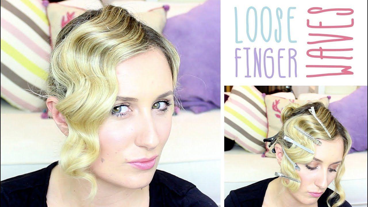 Loose Finger Waves Long Hair Waves Hair Tutorial Finger Wave Hair Long Hair Waves