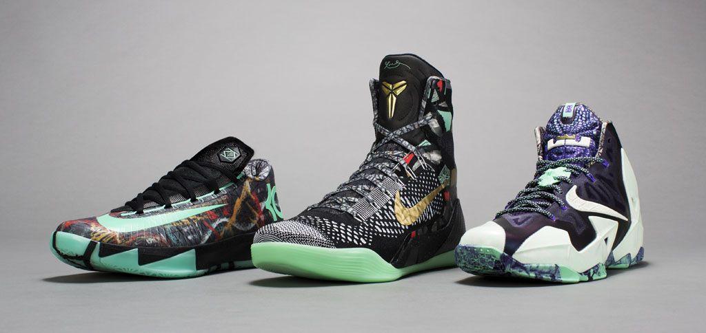 new concept 7dbec d1f7d Nike Basketball NOLA Gumbo League All-Star Collection  LeBron 11, KD 6    Kobe 9 Elite (1)
