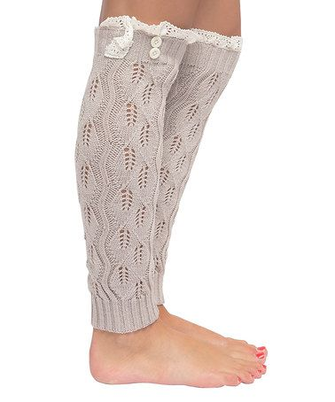 Another great find on #zulily! Oatmeal Pointelle Open-Knit Leg Warmers #zulilyfinds