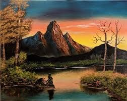 painting mountains in oil with vivid colours  google