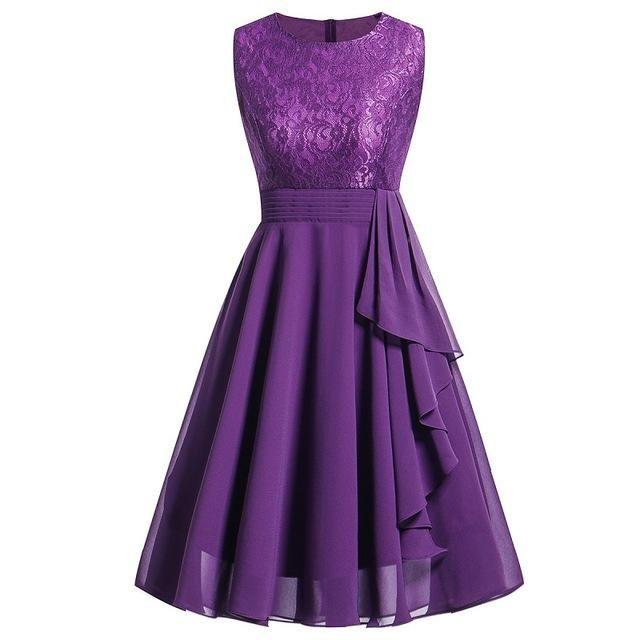 Photo of Lace, Wedding Formal Sleeveless Dress