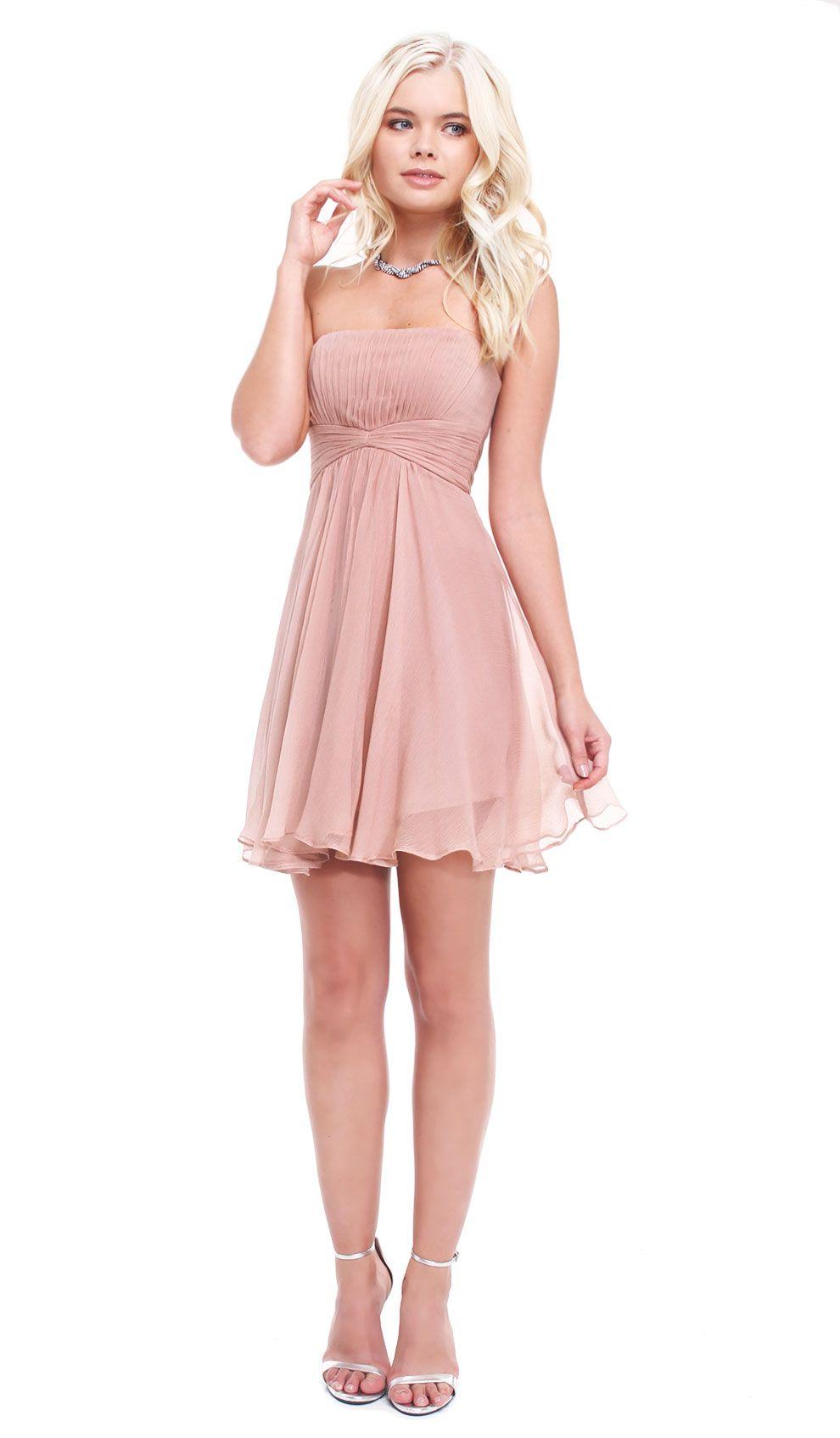 Dusty Rose Silk Dress Hire - BCBG Max Azria - Front   Wedding ...