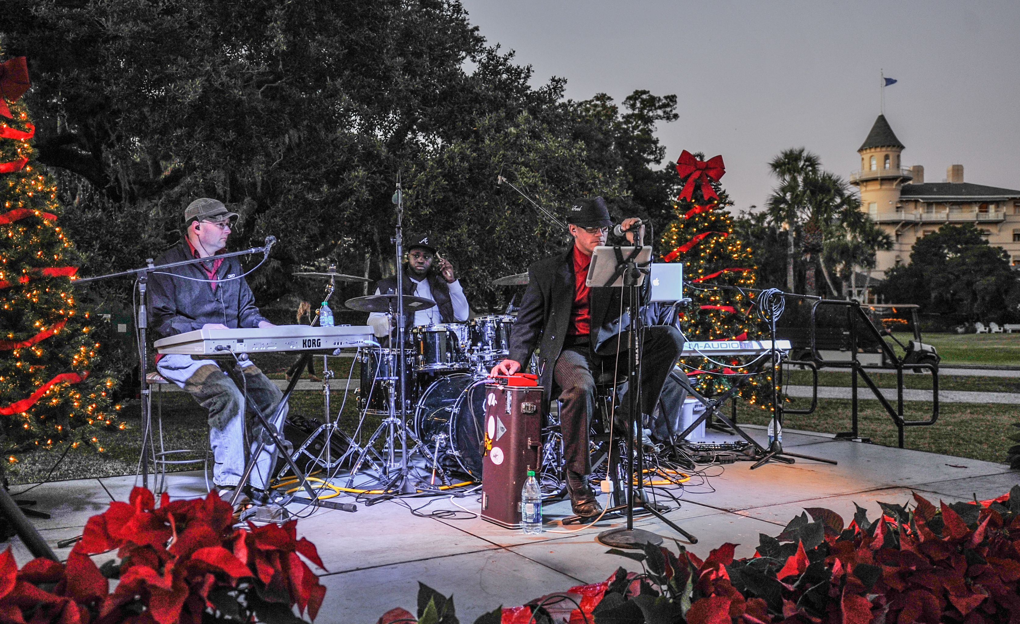 Christmas Tree Lighting offers live music with the Jekyll Island Club Hotel as its background ...