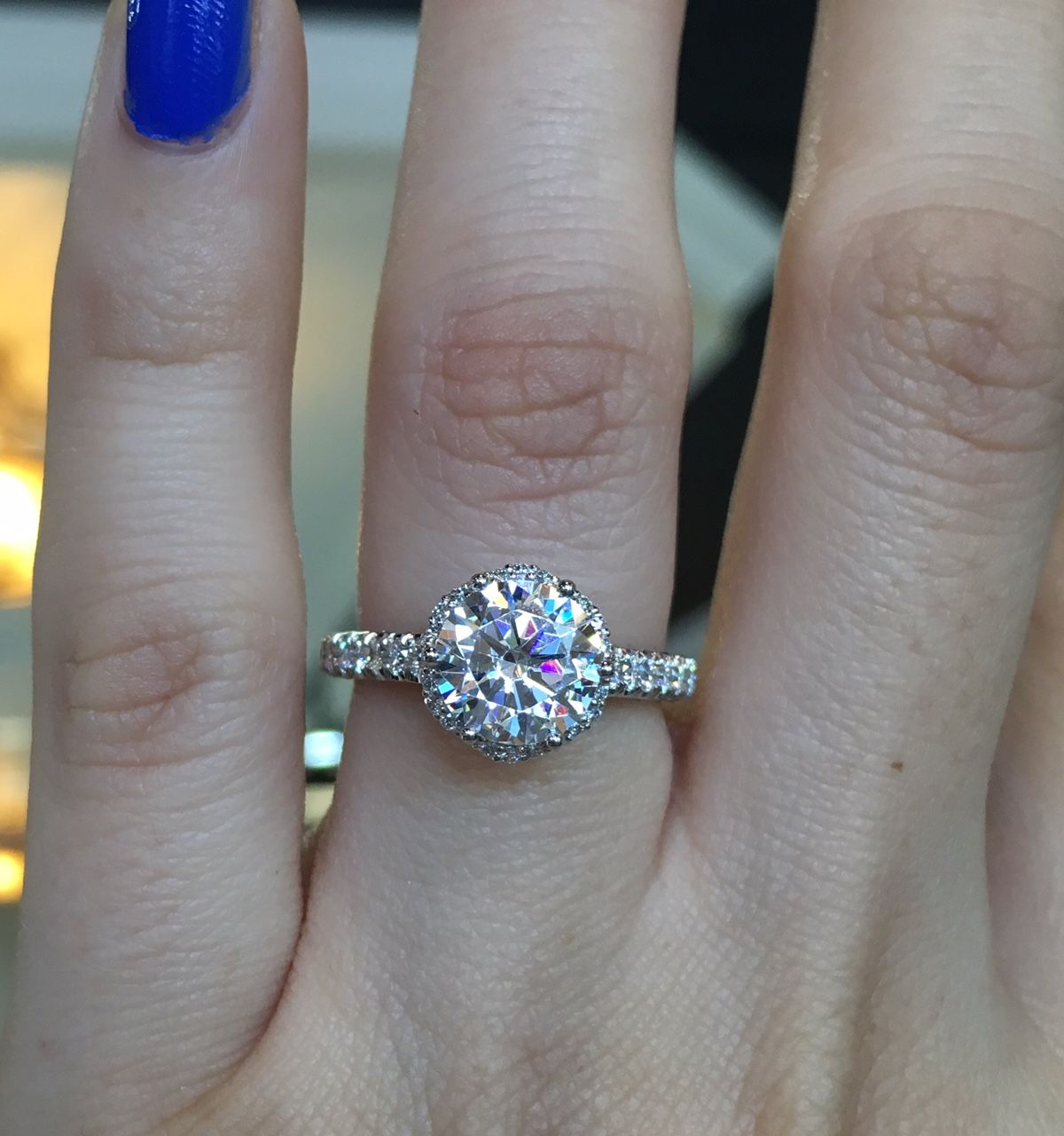 Tacori Petite Crescent HT254725RD8 Diamond Halo Engagement Ring Setting e044abced3