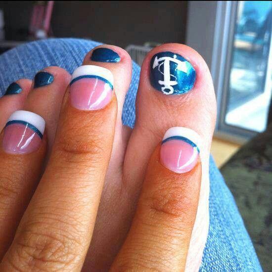 Nautical nails. <3