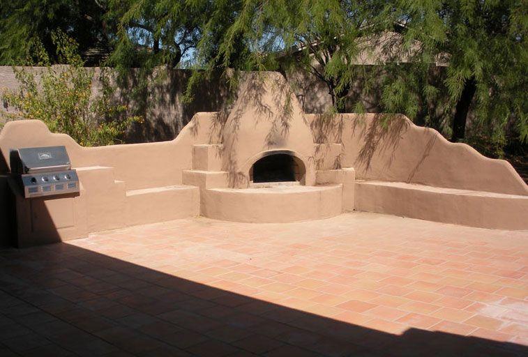Fireplace Kiva Outdoor Fireplace Backyard Makeover Backyard Plan