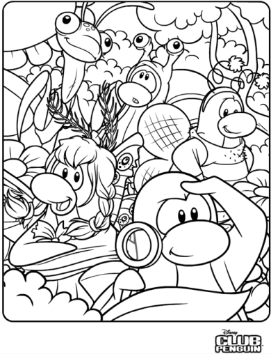 norman swarm coloring page in club penguin - Club Penguin Coloring Pages Ninja