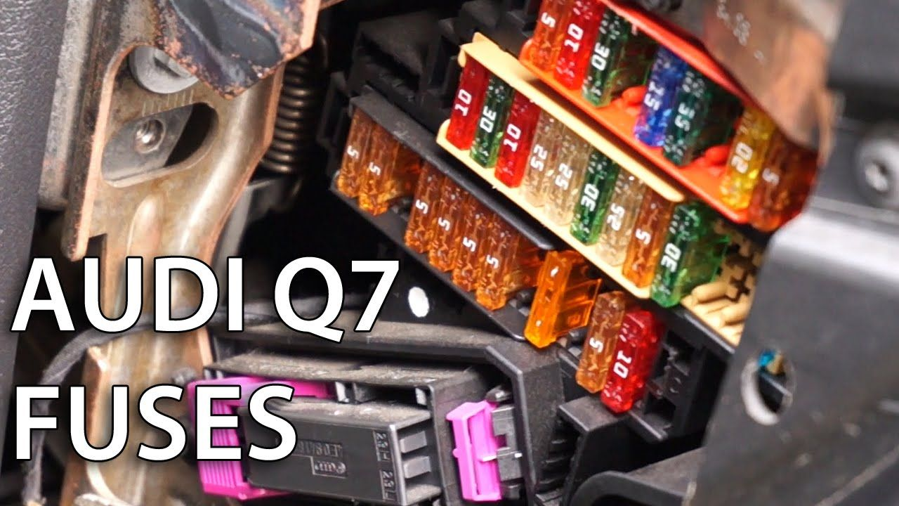 Where Are Electrical Fuses Located In Audi Q7