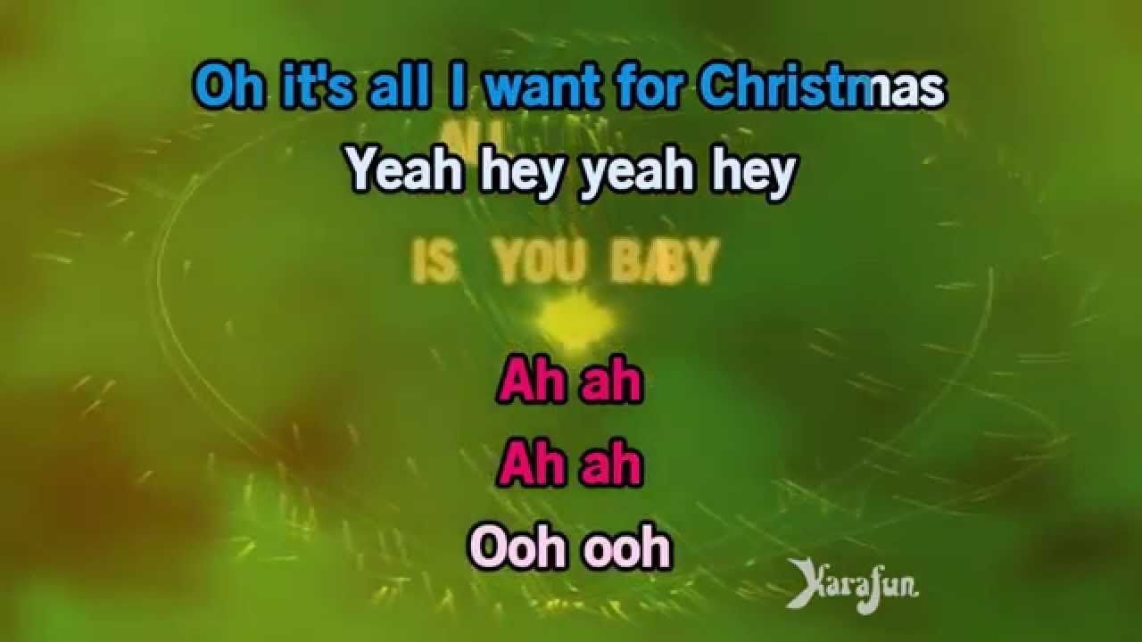 Karaoke All I Want For Christmas Is You Justin Bieber Karaoke Justin Bieber All I Want
