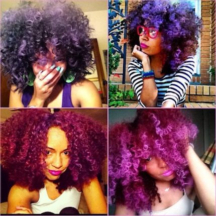 Click the image for Natasha's natural hair photos and hair care/color regimen