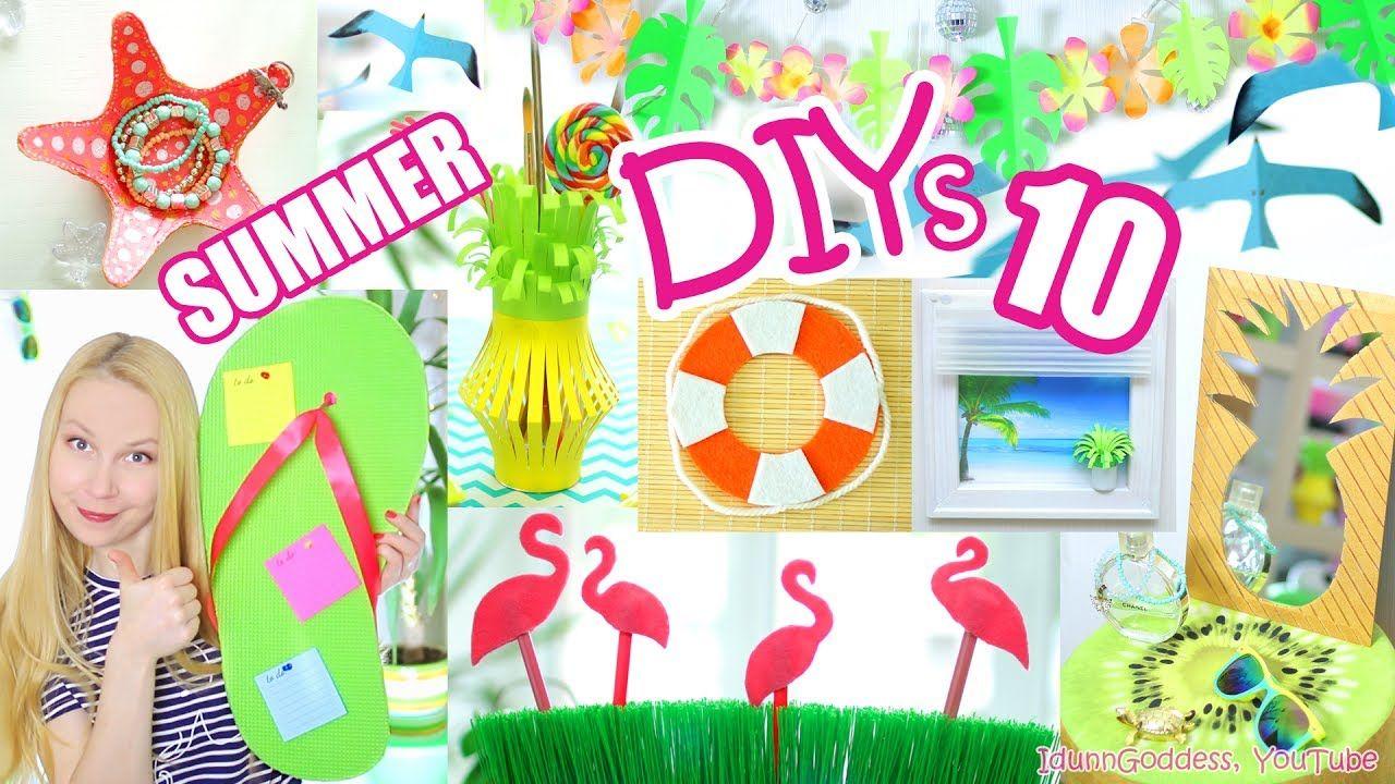 10 Diy Summer Room Decor Ideas Easy And Beautiful Room Decorations For Summer Room Decor Summer Diy Fun And Easy Diys