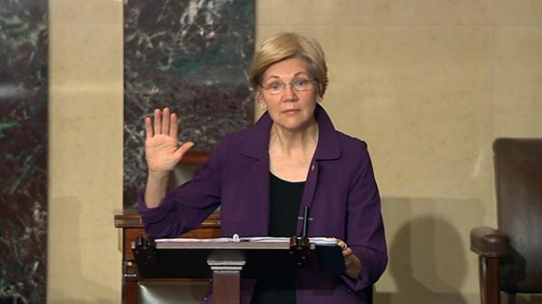 #LetLizSpeak: Democrats protest GOP silencing of Elizabeth Warren