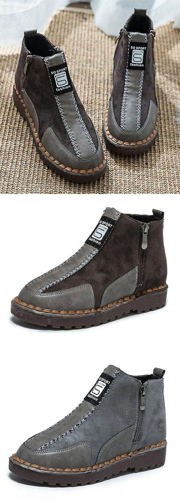 f6fdab13af8d Buy 3 Enjoy 8% OFF Now! (Code  8OFF) Womens Platform Flat Bottom Martin  Sneakers Ankle Boots