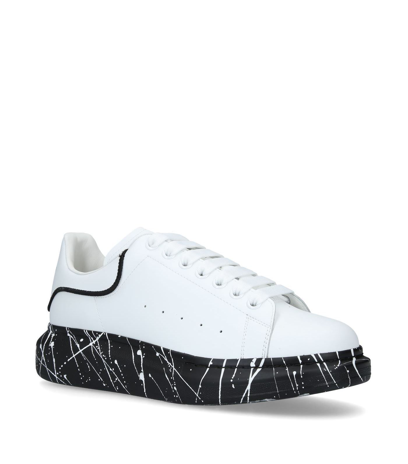 Alexander Mcqueen Oversized Sneaker In Leather With Paint Splat Outsole In White Modesens Alexander Mcqueen Shoes Alexander Mcqueen Sneakers Sneakers