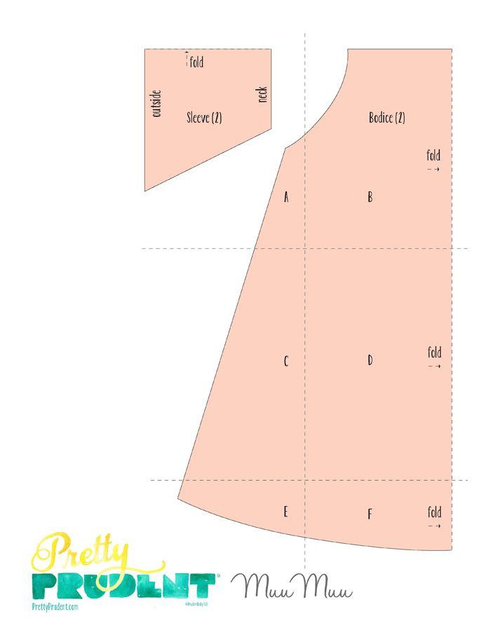 Easy Summer MuuMuu: House-dress Tutorial and Free Pattern. | Pretty ...