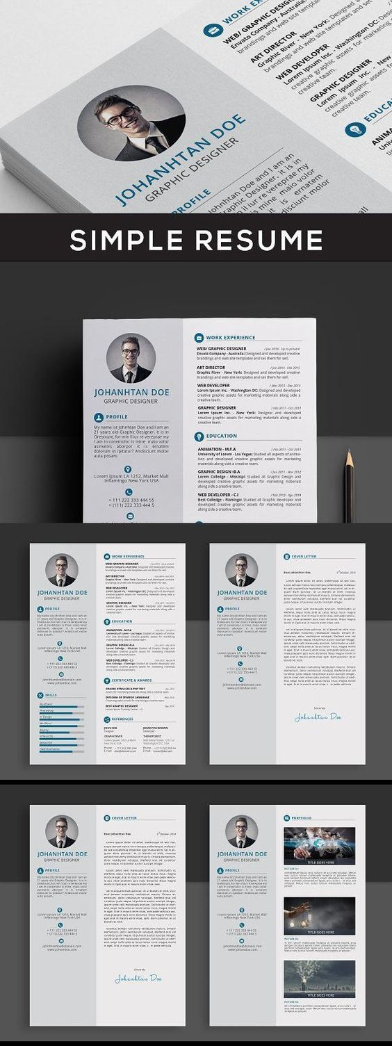 Resume PSD DOC PDF Downloadable Free Templates Attractive Download Modern