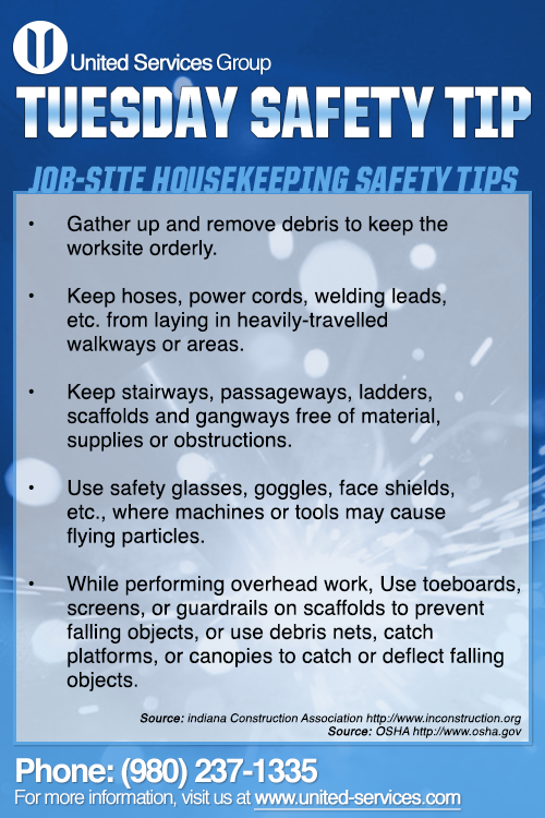 This week's Tuesday Safety Tip is about Jobsite