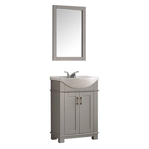"""Fresca Hartford 24"""" Gray Traditional Bathroom Vanity ..."""