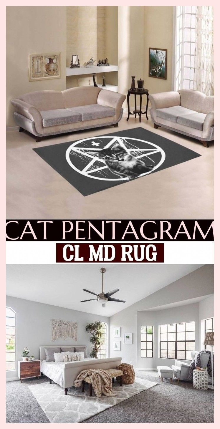 Cat Pentagram Cl Md Rug