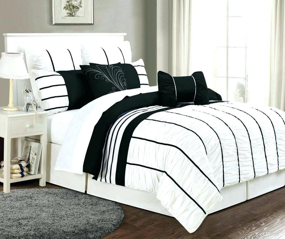 Photo of black and white twin quilt black white comforter bedding black white queen comfo…