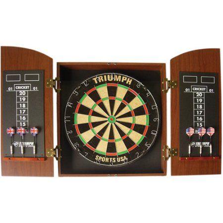 Sports Outdoors Dart Board Dart Board Cabinet Dartboard Wood