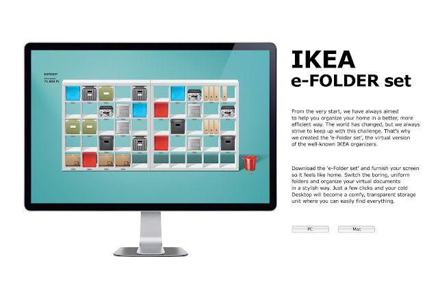 IKEA computer desktop organization app. yes please