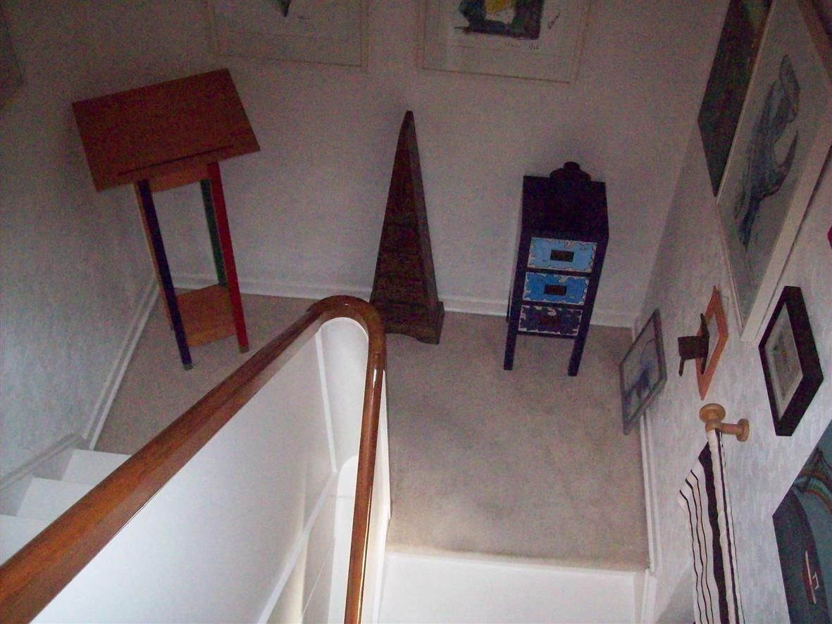 Die Treppe noch einmal.